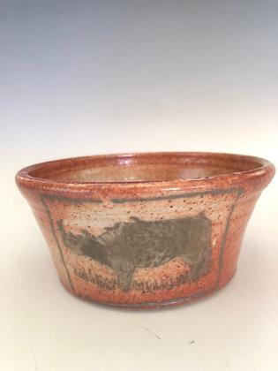 "Stoneware rhino bowl 5.5"""