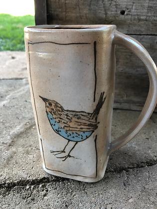 Turquoise wren mug