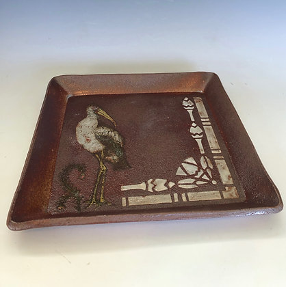 Stork plate with stencils