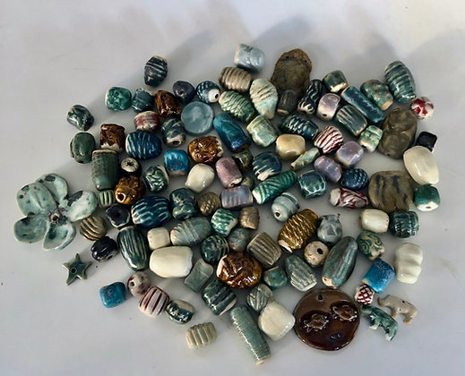 Ceramic Beads all are one of a kind