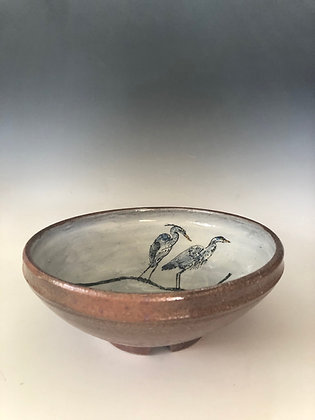 Two Great Blue Herons Bowl