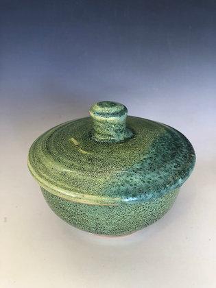 Green lidded jar/casserole