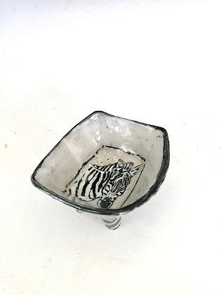 "3"" Zebra dish"