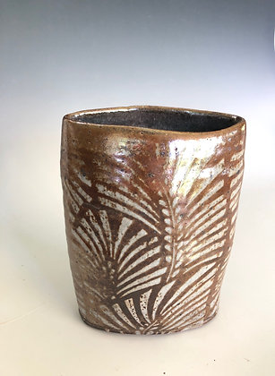 Vase with fern 6""