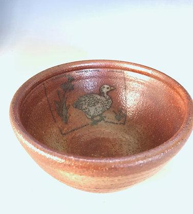 White Goose stoneware bowl