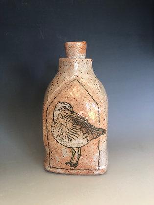 Carved Whimbrel Bottle