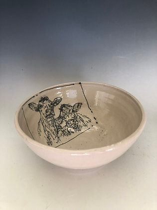 Cows on a bowl