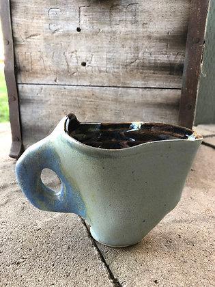 Blue elephant pourer/cup
