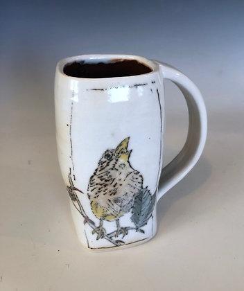 Singing finch mug