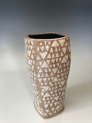 Vase with triangles