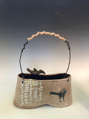 Crow Basket with Wire Handle