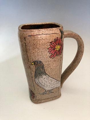Pigeon with Echinacea Mug