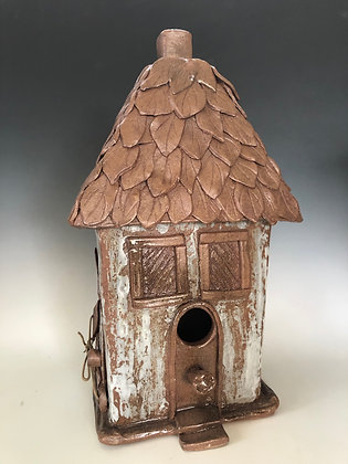 Thatched Leaf Roof Birdhouse