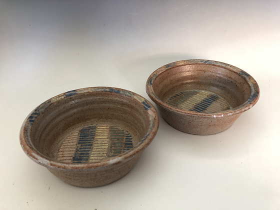 Striped Stencil Bowl Set