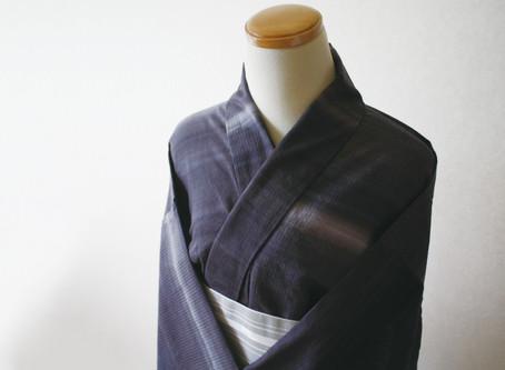夏の着物「ゆかたかはり(浴衣代わり)」の制作について