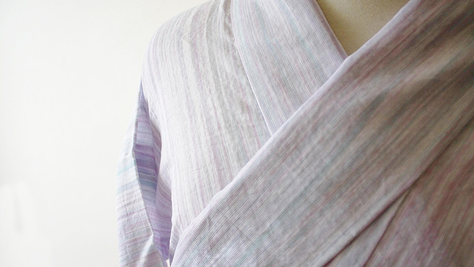 夏の着物(浴衣がわり)