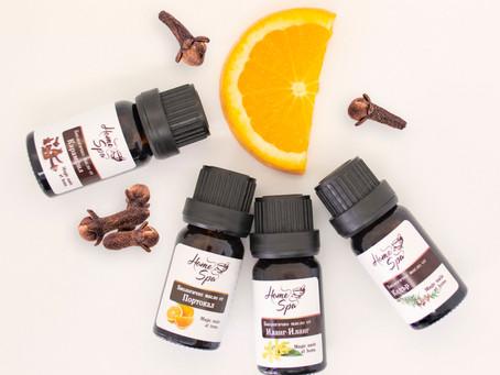 Открийте щастието с етерични масла от Портокал, Иланг-иланг, Кедрово дърво и Карамфил