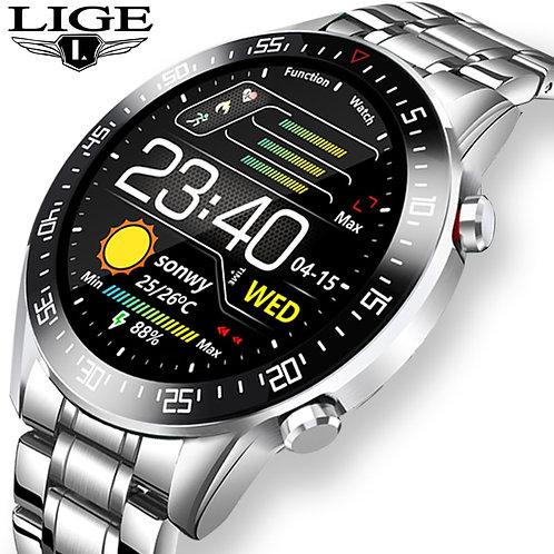 LIGE 2020 Touch Screen Smart Watch Waterproof Sports Fitness Smart Watch Men