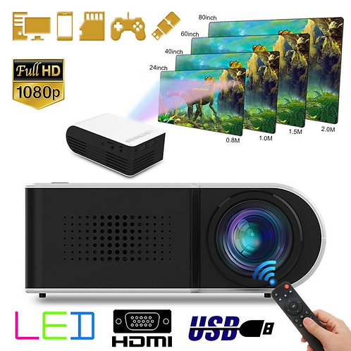 7000 Lumens 1080P Portable Mini Projector HD Home Theater 1080P AV USB Micro USB