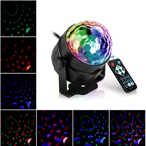 Led Disco Light Music Activated Stage Lights Rotating  Projector Party Effect