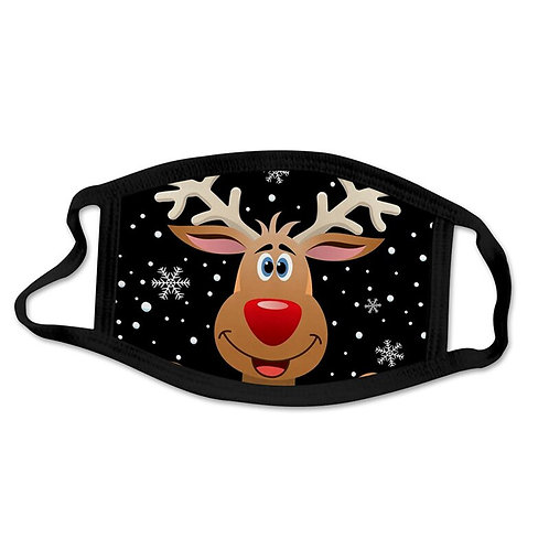 Face Mask Christmas Gifts Happy New Year Navidad Washable Cloth Fits for All