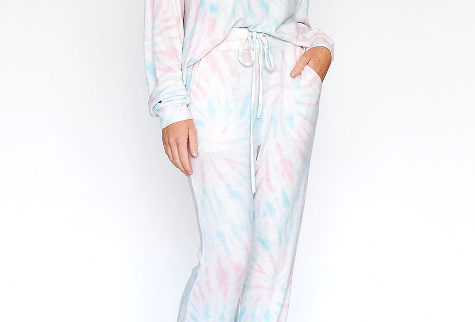 Lounge Set Tie Dye Rose Spiral