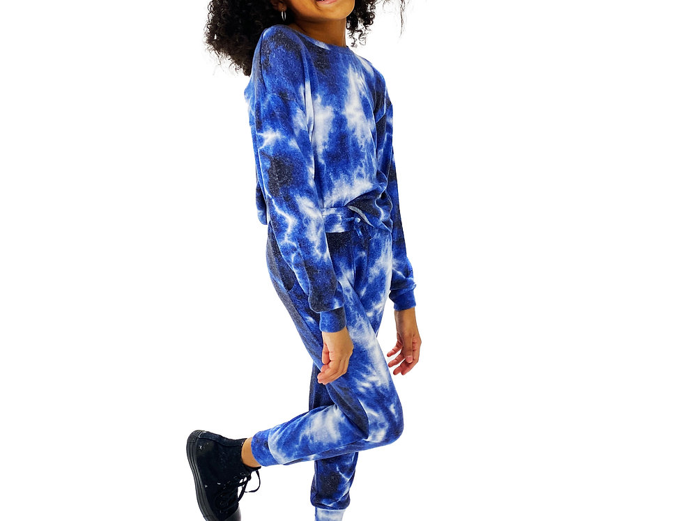 Kids Lounge Set Pullover + Pant Electric Blue