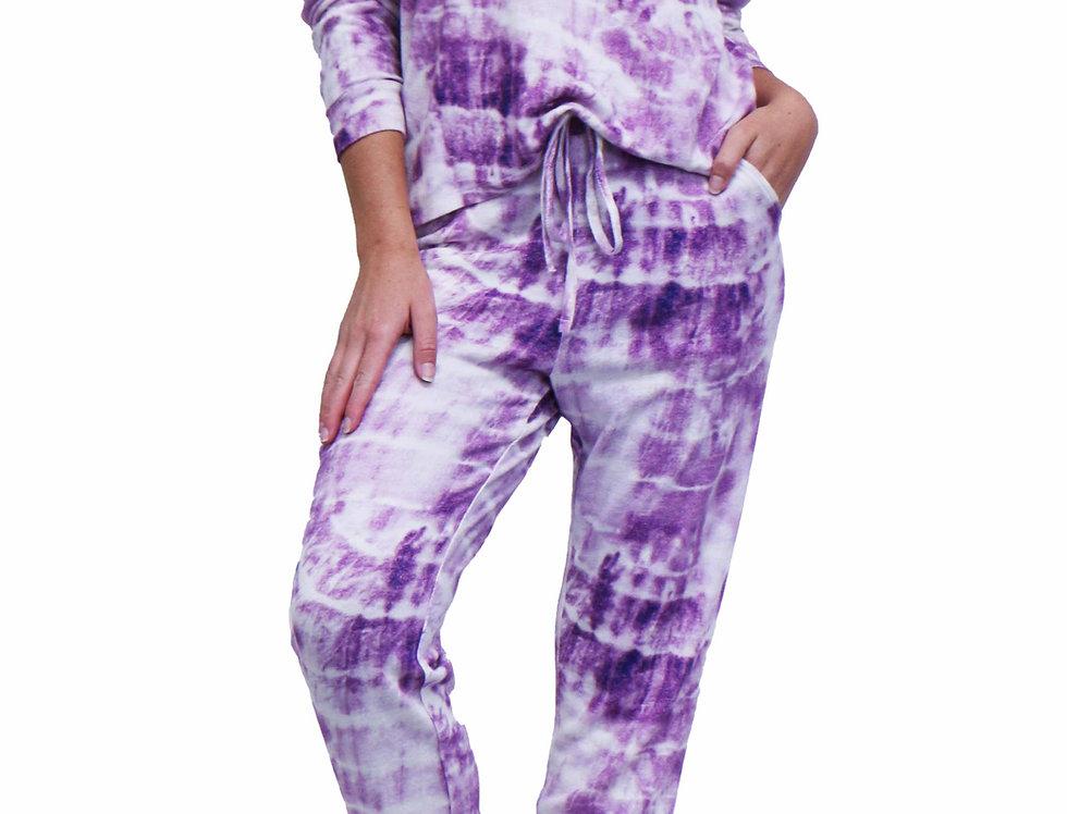 Lounge Set Tie Dye Electric Purple