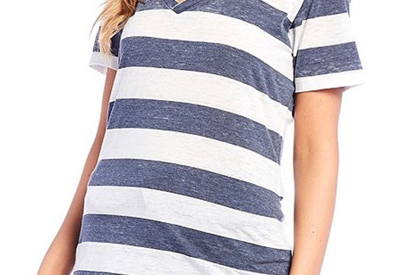 Lounge Stripe Tee Navy