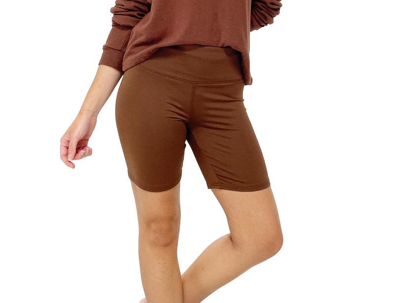 Biker Shorts Brown