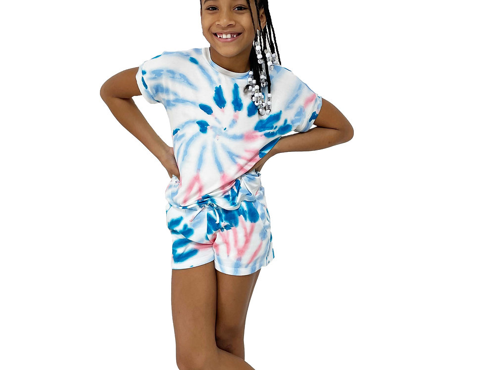 Kids Spring Set Tie Dye Swirl Ocean