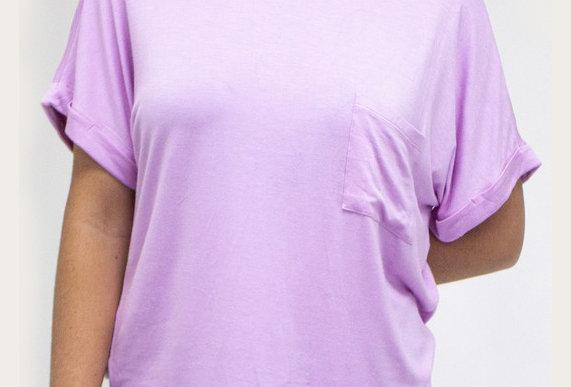 Oversized Pocket Tee Pink