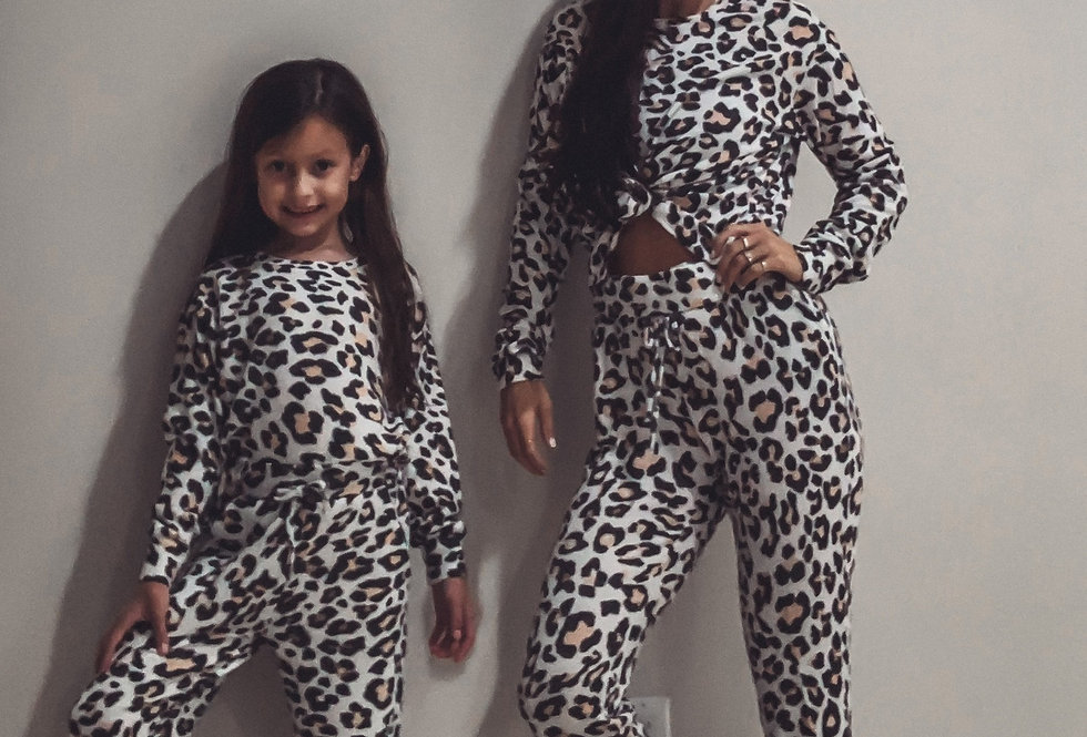 Kids Lounge Set Leopard