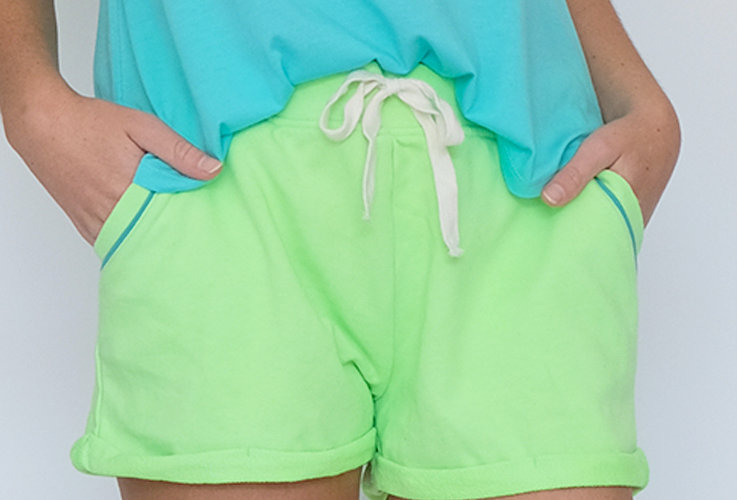 French Terry Short Neon Green