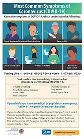 Common Symptoms of COVID-19