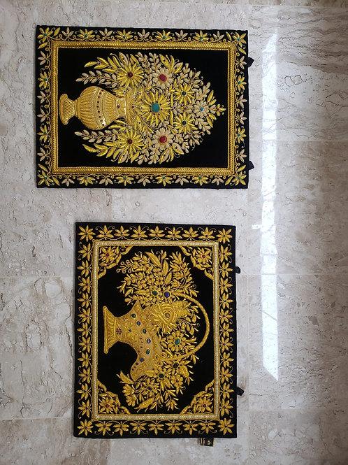 Tapeçaria de Parede Turca fio de ouro e pedras
