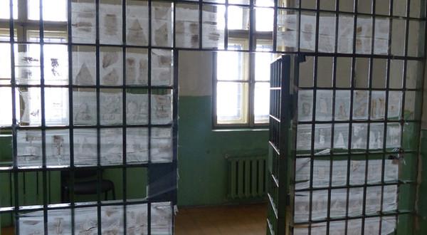 It hurts. Installation. Memorial museum of Lontsky Prison, Lviv, Ukraine. 2015