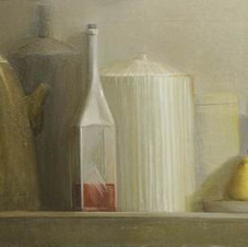 Still life with pears. oil on canvas, 100 W x 50 H cm, 2011