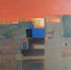 Horizon, oil on canvas, 75 W x 75 H cm, 2019