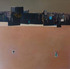 Pink sea, oil on canvas, 130 W x 130 H cm, 2014