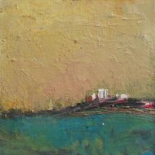 Empty village. Oil on canvas, 30 W x 30 H cm, 2011