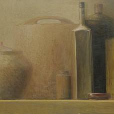 Still life. oil on canvas, 100 W x 50 H cm, 2011