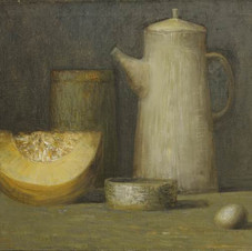 Still life with pumpkin. oil on canvas, 80 W x 60 H cm. 2011