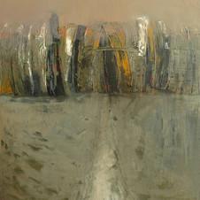 In winter. oil on canvas, 50 W x 70,5 H cm. 2014