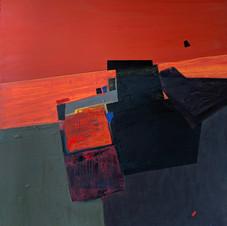 The sky line 1, oil on canvas, 70 W x 80 H cm. 2020