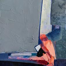 Silence. Oil on canvas, 40 W x 55 H cm, 2020