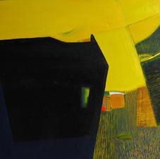Crag, oil on canvas, 60 W x 60 H cm, 2018