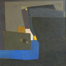 Composition 1, oil on canvas, 130 W x 130 H cm, 2013