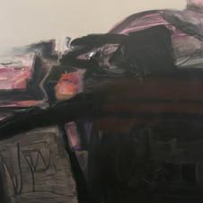 Storm. Acrylic on canvas. 150 W x 120 H cm. 2019
