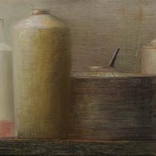 Still life. oil on canvas, 60 W x 40 H cm. 2012
